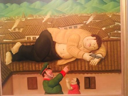 Botero représentant la mort de Pablo Escobar