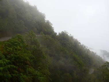 Trampoline de la mort, route entre Mocoa et Pasto